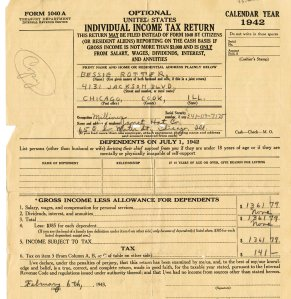 Tax Return - 1942